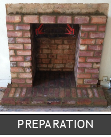 Preparing for installation of a Logburning Stove